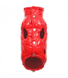 OW232 Doudoune Puppy Angel Love Down Vest With HighGrossy (Regular, Snap) Red