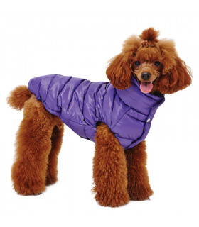 OW230 Doudoune Puppy Angel Love Faux Down Purple 631