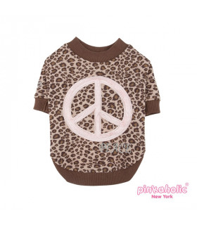 TS7161 Tee-shirt Pinkaholic Woodstock Brown
