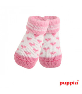 SO073 Chaussettes Puppia Angel Heart Pink