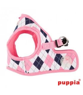 AH1410-Harnais Puppia Argyle B Pink