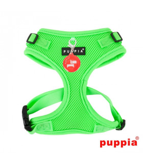 AC1430-Harnais Puppia Neon Soft Harness II Green