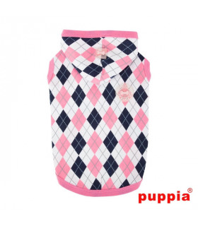 TS1410 Sweat Puppia Argyle Lattic Pink