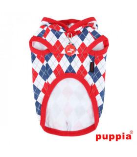 TS1410 Sweat Puppia Argyle Lattic Red