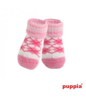 SO072 Chaussettes Puppia Argyle Pink