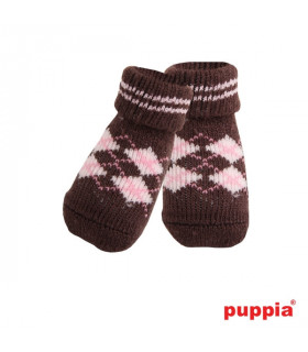 SO072 Chaussettes Puppia Argyle Brown