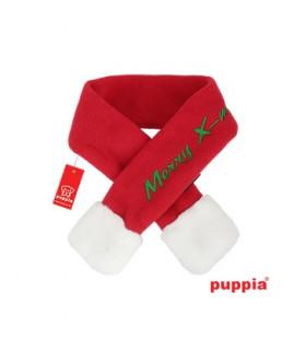 SM23 Echarpe Noël Puppia Santa s Scarf Red