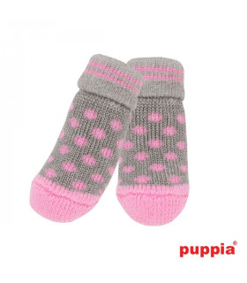 SO1175 Chaussettes Puppia Polka Dots Grey