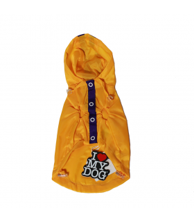 Imper I LOVE MY DOG Wind Jacket 2 Legs Yellow