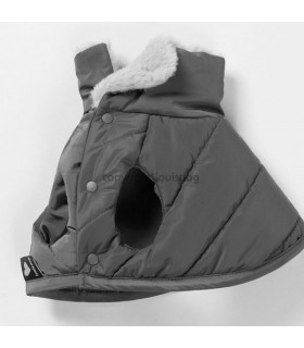 Manteau Louisdog Padded Cape Charcoal