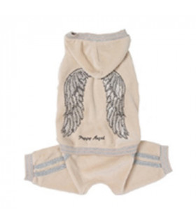 OR076 Jogging Puppy Angel Wings Beige BG