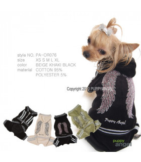 OR076 Jogging Puppy Angel Wings Noir BK