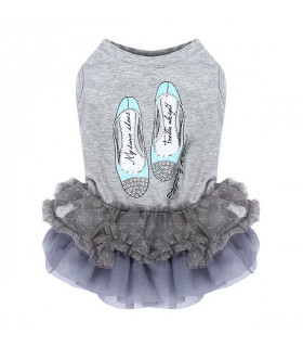 DR151 Robe Puppy Angel Lovely Princess Dress Grey 94