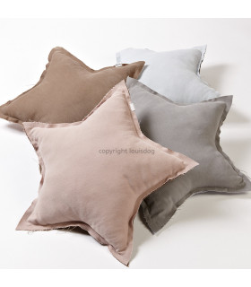Coussin Louisdog My Star Wood Brown+Pink
