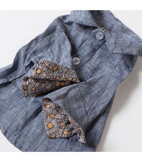 Chemise Linen Shirt Blue Louisdog
