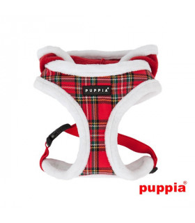 AC1364 Harnais Rudolph Harness A Puppia Checkered Red