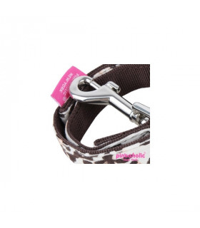 AL7112 Laisse Pinkaholic Leo Leash Brown