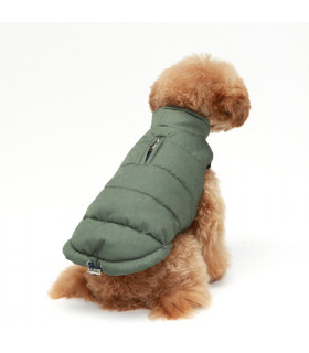 OW333 Doudoune Puppy Angel Melange Padding Vest Green