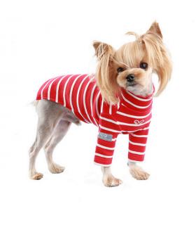 TS588 Tee-Shirt Puppy Angel Saint Angels High-Neck Long Sleeve Red