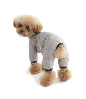 OW374 Doudoune 4 Patt Luxury Quiltted Padded Overall (All Cover) Puppy Angel Grey