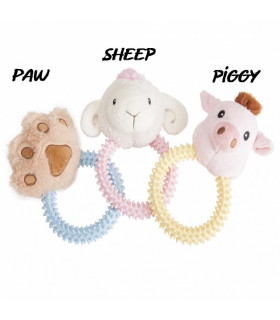 AD051/C Jouet Plush Dog Toy With TPR Ring Camon