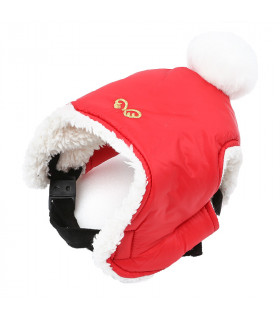 AC443 Bonnet Padding Hat Puppy Angel Red
