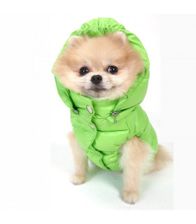 OW230 Doudoune Puppy Angel Love Faux Down Green 817