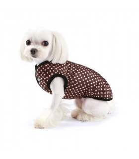 OW337 Doudoune Puppy Angel MAC Daily Padded Vest Heart Pattern