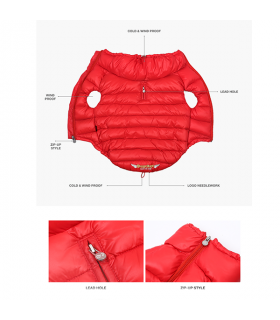OW227 Doudoune Love Down Padding Vest Puppy Angel Red 337