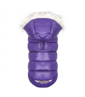 OW236 Doudoune Trim Down Padding Hood Vest (Regular, Snap) Purple 631