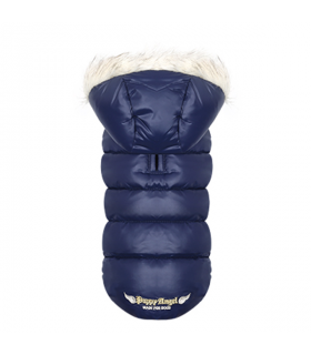 OW236 Doudoune Trim Down Padding Hood Vest (Regular, Snap) Navy 760