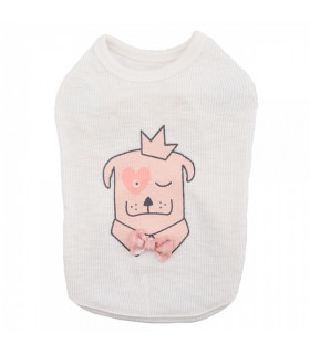 TS7400 Tee-Shirt Royal Pups Pinkaholic Ivory