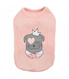 TS7400 Tee-Shirt Royal Pups Pinkaholic Peach