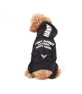 OW404 Imperméable Magagio Raincoat Puppy Angel Black