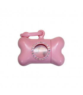 MG0812-RO RAMASSE-CROTTES UNITED PET BON TON NANO LUXURY PINK