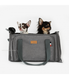 Sac de Transport 2 en 1 Avion ? et Voiture ? Gris Amyslovepet