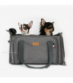 Sac de Transport 2 en 1 Avion et Voiture Gris Amyslovepet