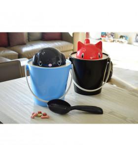 SG0201-BI Sceau à Croquettes Crock White/Fushia United Pets