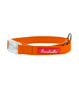 HI725 Collier Silicone avec Led Orange Fluo Ferribiella