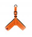 HI770 Harnais Silicone avec Led Orange Fluo Ferribiella