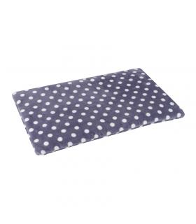 Tapis Moelleux Double Face Plain Mat à Pois Gris O lalapets A52