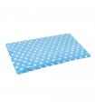 Tapis Moelleux Double Face Plain Mat à Pois Bleu O lalapets A51
