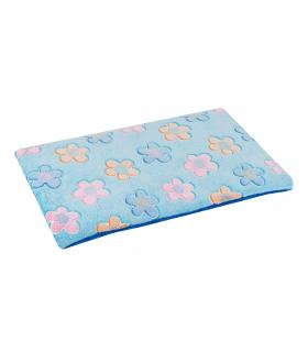 Tapis Moelleux Double Face Plain Mat imprimé Fleur bleue O lalapets A53