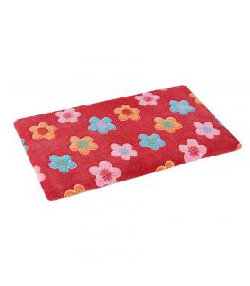 Tapis Moelleux Double Face Plain Mat imprimé Fleur Rouge O lalapets A54