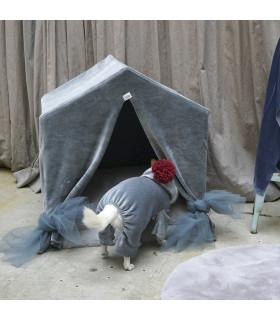 Peekaboo Cabana Velours Deep Bleu Louisdog