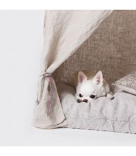 Peekaboo Natural Linen Louisdog