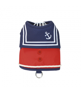 Harnais Veste Old Captain Red Croci