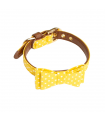 Collier Pop Andy Nœud Papillon Pois Jaune Croci