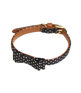 Collier Pop Andy Nœud Papillon Pois Noir Croci