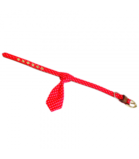 Collier Pop Roy Cravate Pois Rouge Croci